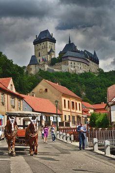 The Karlštějn Castle, in Karlštějn, Czech Republic.