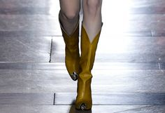 """Cap-Toed Western Boots Rocked the Runway at Givenchy  