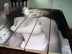 Turn posters into a Wood Slat Poster Display