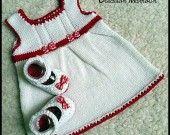 Jolie robe et ballerines assorties en coton tout doux pour future princesse