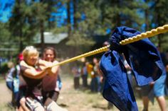 Tug of War is about as basic a game as there is. You just need a long rope and bandana or piece of cloth to mark the center. Organize your teams by family or do a boys vs. girls. Pride is on the line and tug-of-war games can get heated but remember it's all about having fun. Do a best of three to determine a true winner.