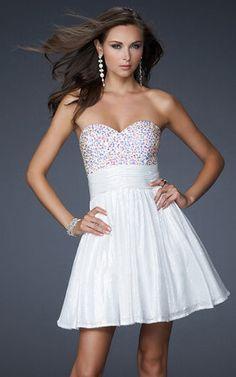 La Femme 17263 Homecoming Dress Sequin Strapless