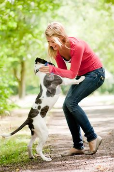 girl and dog photos