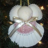 Seashell Angel Ornament Beach Decor by CathysCoastCreations
