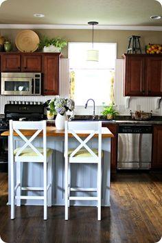 Board and Batten kitchen island. Thriftydecor chick...love her ideas.