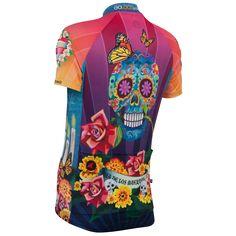 """Sugar skull Jersey """"Day of the Dead"""" Designer Jersey for Women Bike Wear, Cycling Wear, Road Cycling, Cycling Bikes, Cycling Outfit, Cycling Clothing, Women's Cycling Jersey, Cycling Jerseys, Rash Guard Women"""