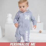 Personalised Onesies for the coolest kid. Simply type chosen NAME in box above to customise theirs now! First letter of name will automatically be used as initial. Soft & comfy hooded onesie Dual customisation with Initial & Name Zip Fastened Washing Instructions- Wash inside out and at 30 degrees MRK X product 30 Degrees, Baby Things, Cool Kids, Hoods, Initials, Onesies, Graphic Sweatshirt, Names, Comfy