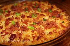 Deep South Dish: Charleston Cheese Dip.. Mary's take on Trisha Yearwood's dip.. with bacon, cheeses, panko and spice! yummmmmmm!!!
