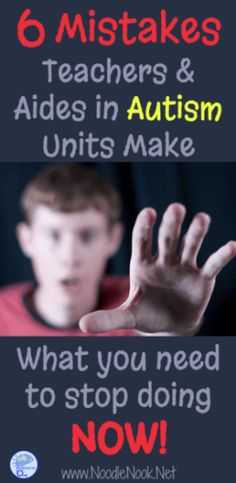 6 Mistakes Teacher in Autism Units Make. - Tap the link to shop on our official online store! You can also join our affiliate and/or rewards programs for FREE! What Is Autism, Autism Help, Autism Teaching, Autism Education, Autism Support, Adhd And Autism, Autism Parenting, Autism Resources, Autism Classroom