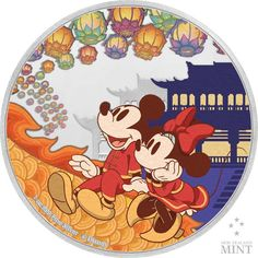 Zufriedenheit 1 Unze Feinsilber Mickey Mouse Images, Minnie Mouse, Dragon Dance, Legal Tender, Proof Coins, Happy Year, Lunar New, Effigy, Coin Collecting