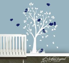 Baby Nursery Wall Decals Nursery Garden Tree by SurfaceInspired