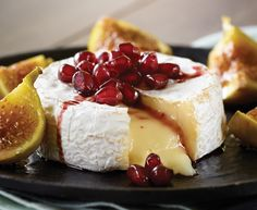 Baked Castello® Brie with Figs and Pomegranate Reduction - Castello - Castello