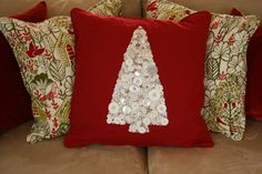 button pillow, what a great idea Z