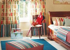 This is a great example of an older child's bedroom from Harlequin. With a calm and relaxed feel, for the complete finished look add the co-ordinated furnishings and Accessories. http://www.housedecorinteriors.co.uk