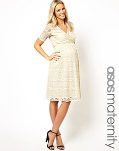 ASOS Maternity Exclusive Lace Midi Dress With Wrap Front--one mom just ordered.  is it different from the other one?