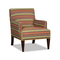 Sam Moore Panache Club Chair Finish: Espresso, Upholstery: 2245 Natural