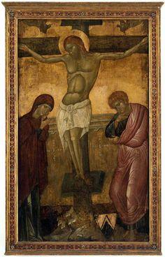 Artista Italo-Bizantino - Crocifissione - - Pomona College, Museum of Art, Claremont Life Of Christ, Jesus Christ, Pomona College, Salvator Mundi, Byzantine Icons, Orthodox Icons, Art History, Art Museum, Medieval
