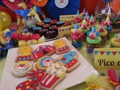 Fun treats at a circus birthday party! See more party planning ideas at CatchMyParty.com!