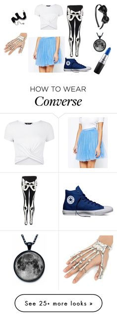 """Alice In Wonderland"" by alices-tea-party on Polyvore featuring Little Mistress, New Look, Converse, Sweet Romance, claire's and MAC Cosmetics"