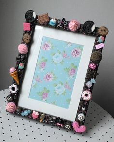 chocolate Decoden photo frame 6inch x 4inch with mount SWEETS ice cream Kawaii KITSCH wall or side table on Etsy, $64.94 AUD