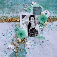 """Kaisercraft 'Blue Bay' Collection - LO """"Beautiful Moments"""" by Design Team member Cathy Cafun - Scrapbook Pages 1."""