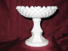 Westmoreland Sawtooth (MILK GLASS) Small Footed Compote Westmoreland Glass, Russel Wright, Homer Laughlin, Flea Market Finds, Depression, Milk, Pottery, Glasses, Colors
