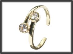 Buy a toe ring and get 20% off a second toe ring 9ct yellow Solid gold adjustable Cz toe ring on twist JTR08 jewellery company