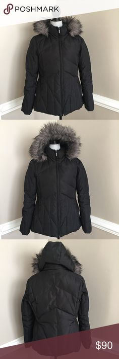❤️Calvin Klein Faux-fur hooded puffer down coat Calvin Klein Faux-fur hooded thick down puffer coat in black. Super thick and warm. Barely worn as new condition. The Hoodie can be zipped off. Calvin Klein Jackets & Coats Puffers