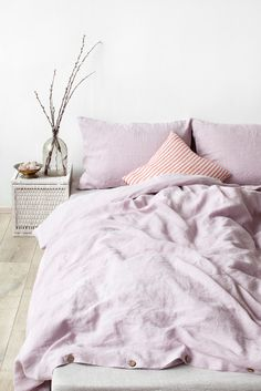 US King Size Pink Lavender Stone Washed Linen Bed Set by LinenTales on Etsy https://www.etsy.com/listing/199079817/us-king-size-pink-lavender-stone-washed