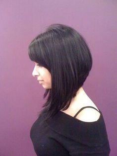 Long angled bob with bangs...really liking this..my hair needs to grow!!