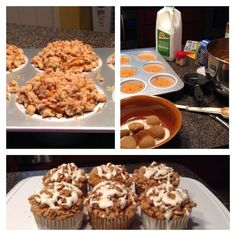 These are a copycat of dunkin donuts pumpkin muffins and were absolutely amazing!