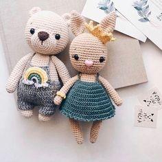 Educational and interesting ideas about amigurumi, crochet tutorials are here. Crochet Animal Patterns, Crochet Doll Pattern, Crochet Bunny, Stuffed Animal Patterns, Crochet Patterns Amigurumi, Crochet Blanket Patterns, Cute Crochet, Amigurumi Doll, Crochet Animals