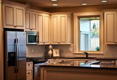 houzz traditional L-shape kitchen design | 17,675 l shaped kitchen cabinets Home Design Photos