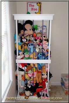 The Zoo, stuffed animal storage (molding top- i like it)