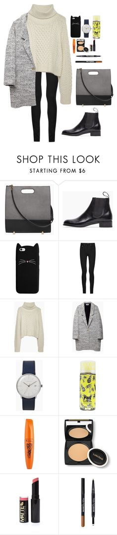 """""""Untitled #2338"""" by veronicaptr ❤ liked on Polyvore featuring Alexander Wang, Le Yucca's, Yves Saint Laurent, Apiece Apart, Junghans, Rimmel, Lancôme and Maybelline"""