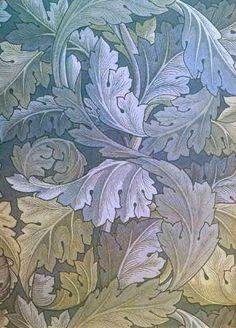 William Morris, acanthus leaf wallpaper by kerrianndrylee. William Morris Wallpaper, William Morris Art, Morris Wallpapers, William Morris Patterns, Jugendstil Design, Art Japonais, Motif Floral, Vintage Diy, Arts And Crafts Movement