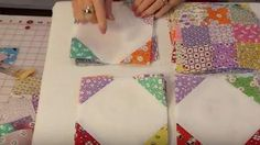 She Sews Squares In Diagonal Rows And, Once Again, Makes A Beautiful Item You'll Love! | DIY Joy Projects and Crafts Ideas