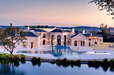 Wow... house, pool... lake
