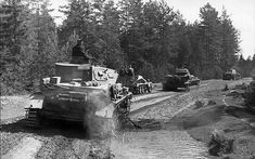 panzer advanced in Army Group North towards Leningrad. The terrain and forestry are totally different in this sector of the front. 1941