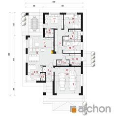 gotowy projekt Dom w renklodach 6 rzut parteru Architectural House Plans, Cottage Plan, Home Projects, Future House, Building A House, Architecture Design, Pergola, Floor Plans, Exterior