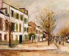 Maurice Utrillo Street In Asnières oil painting reproductions for sale