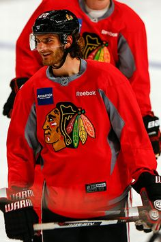 Brandon Saad at morning skate. #Playoffs #Blackhawks