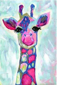 Acrylic Giraffe Painting By Kare King Fun Lesson Idea For