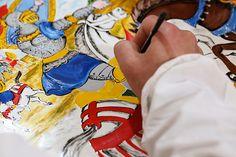 Dolce Gabbana hand painted Smeg