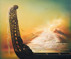 - September visit Bryce Gallery to view an exhibition by 3 New Zealand landscape artists - Hamish Allan, Geoff Williams and Sofia Minson. Jet Ski, Maori Legends, Waitangi Day, Maori People, Polynesian Art, New Zealand Landscape, Maori Designs, Nz Art, Legends And Myths