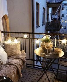 Black Bedroom Design, Home Room Design, House Design, Small Balcony Design, Small Balcony Decor, Interior Exterior, Interior Design, Apartment Balcony Decorating, Apartment Balconies