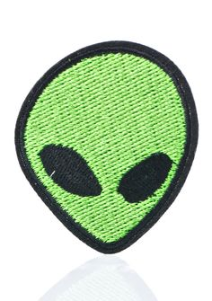 Love And Madness Alien Patch ...we're ready for abduction, beam us up! This lil embroidered alien face patch features a unique sticker back that ya can easily attach a few times or sew and pin anywhere needing an extraterrestrial touch.