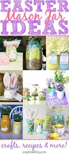 Easter Mason Jar Ideas by Kim's Own