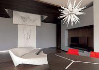 Villa Tres Marías es un conjunto de volúmenes que se insertan en el paisaje y lo enriquecen con una arquitectura elegante.