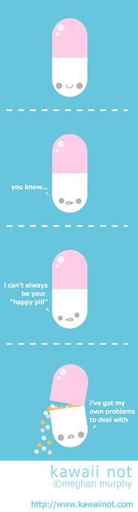 Kawaii Not - Unhappy Pill